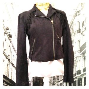 Wester faux suede fringes jacket.